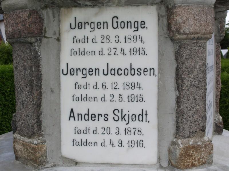 Mindesten, Jegerup Kirkegård