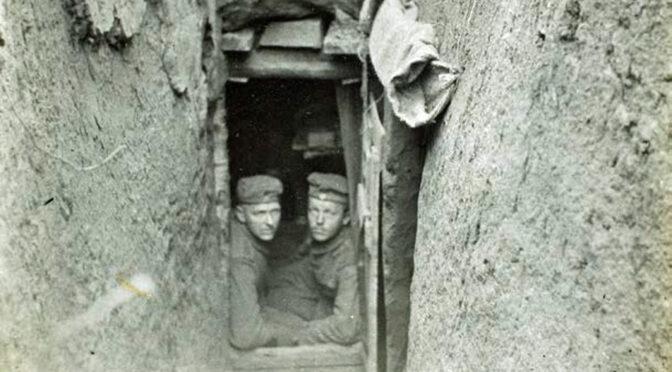 Fransk øjenvidneskildring af skyttegravene ved Moulin-sous-Touvent efter kampene den 6. juni 1915